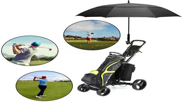Eono by Amazon - Windproof Golf Umbrella with Double Fabric and Automatic Opening System