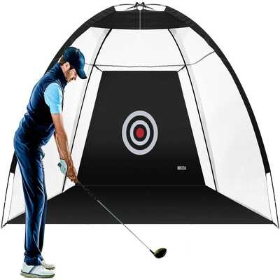 MIKODA Golf Practice Net Golf nets for Backyard Driving Golf Cutting Net Golf Net for Indoor Driving Range Swing and Cue